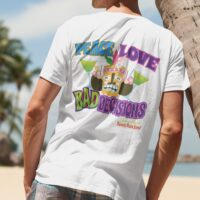 Johnny Russler and the Beach Bum Band Peace Love And Bad Decisions T-Shirt