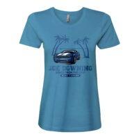 Joe Downing Blue Camaro Ladies Fitted Tee