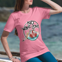 Johnny Russler - Mike McEnery No Wake Zone Ladies Fitted Tee
