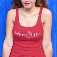 Shore Life Radio Mermaid Logo Ladies Racerback Tank