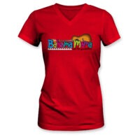 Bahama Mama and the Painkillers Logo Womens Vneck Fitted Tee