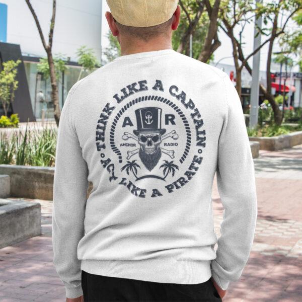 Anchor Radio Pirate Long Sleeve T-Shirt Logo On Back